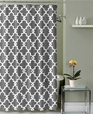 Waterproof Polyester Fabric Various Pattern 12Hooks Bathroom Shower Curtain A
