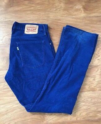 - Levis 514 Men's Fine Cord Straight Leg Jean Pants Dark Blue 33x32