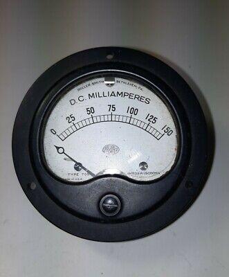 Roller Smith Type Tds D.c. Milliamperes 0-150 Mr35w150dcma