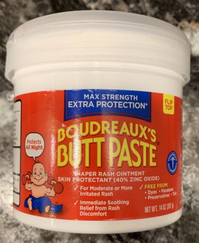 Boudreaux s Butt Paste Diaper Rash Ointment Max Strength 14 Oz Exp 04 / 2022 - $13.00
