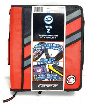 Case-it Z-binder Two-in-one 1.5-inch D-ring Zipper Binder Red Z-176 Red