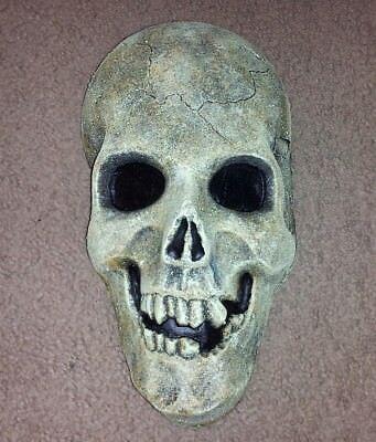 VINTAGE STYLE SKULL HALF MASK FOAM FILLED LATEX HEAD HALLOWEEN PROP-U S A- - Foam Skull Heads