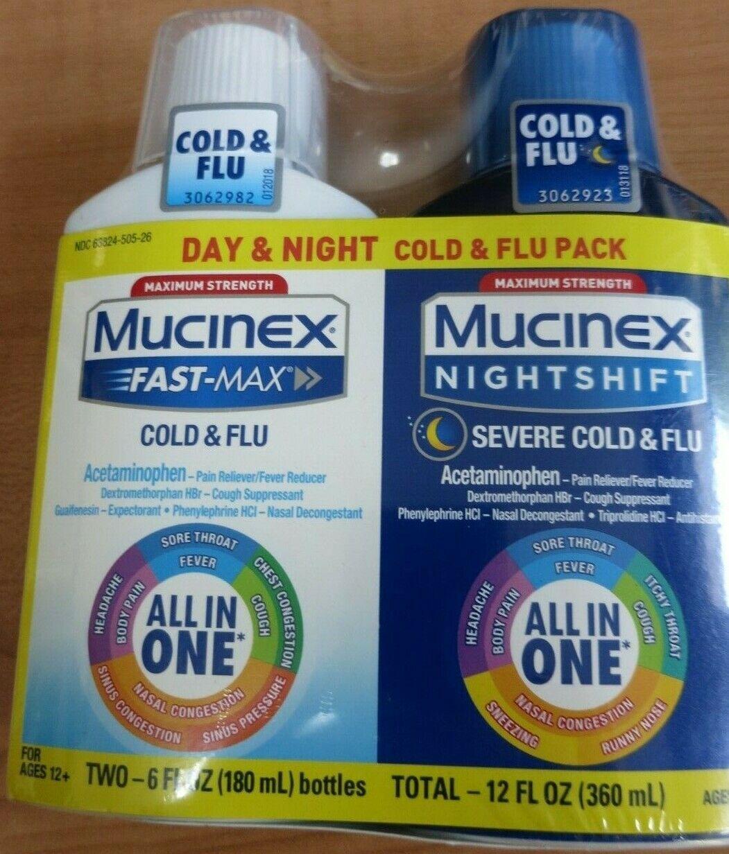 Mucinex Fast-Max Day Time Cold & Flu Night Time Cold & Flu L
