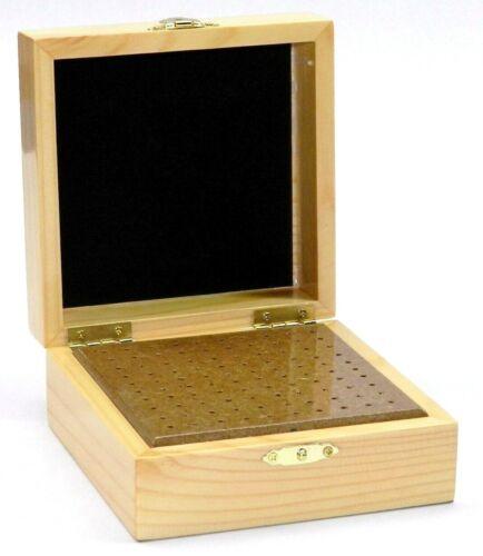 "100 Hole Bur Storage Box Organizer Rotary Cutters Burs Holds 3/32"" Shank"