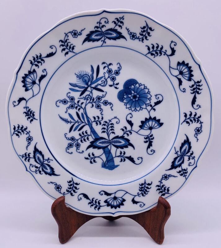 "Vintage Blue Danube Japan Blue Onion 9"" Dinner Plate Floral Asian Pattern"