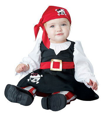 Petite Pirate Girl Infant Baby Halloween Costume (Baby Girl Pirate Halloween Costumes)