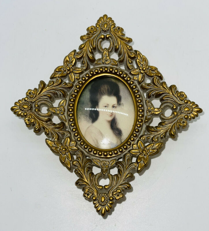 """Vintage Cameo Creations Framed Victorian Women Pictures Wall Plaque 6"""""""