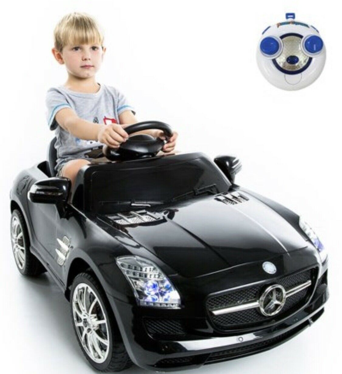 AWESOME Mercedes  Benz SLS r/c mp3 kids ride on car electric