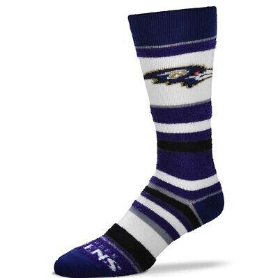 Baltimore Ravens NFL Women's Crew Length Soft Fuzzy Socks By For Bare Feet Baltimore Ravens Womens Socks