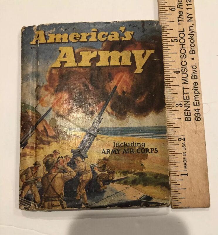 1942 WWII America's Army Rand McNally Mini Book Illustrated