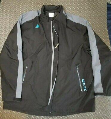 Adidas Goretex Waterproof Jacket mens size XL black full zip