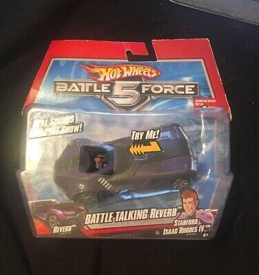 BRAND NEW Hot Wheels Battle Force 5 Talking Reverb Stanford Isaac Rhodes IV