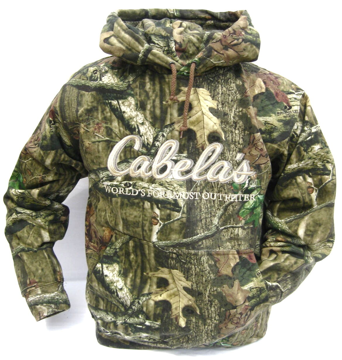 Cabela's Silent Seven Camo Hunting Hoodie Men's Heavyweight Mossy Oak Pullover