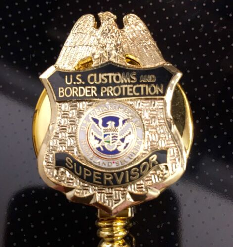 CBP Supervisor ID Holder Gold Logo on ID Reel