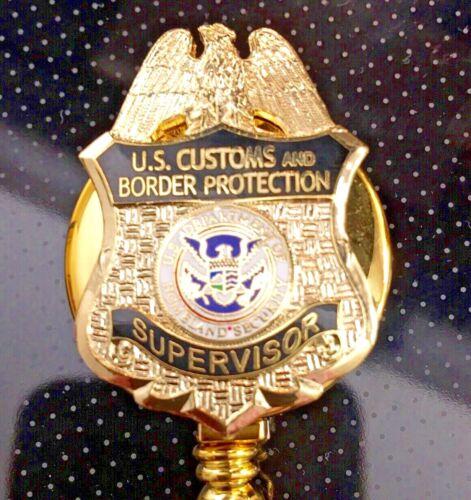 CBP Supervisor ID Holder Gold Logo on ID Reel