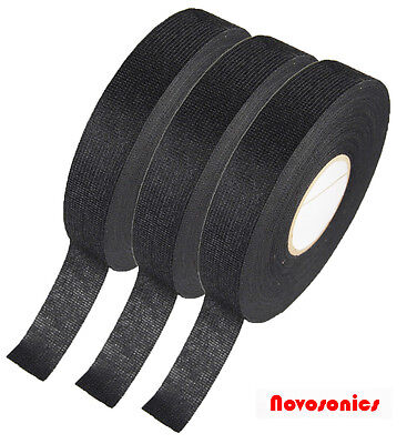 US Seller Automotive Cloth Tape 19mm x 25m Adhesive Cloth Fabric Tape 3 PACK for sale  Shipping to India