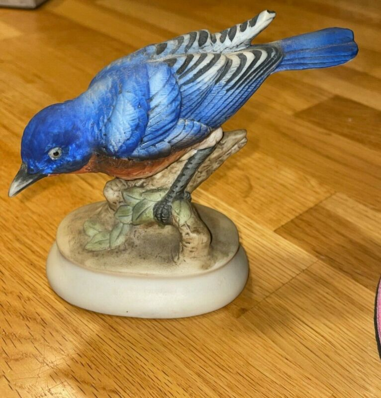 PRE OWNED: Hand Painted-Lefton China Blue Bird; Item#: KW395