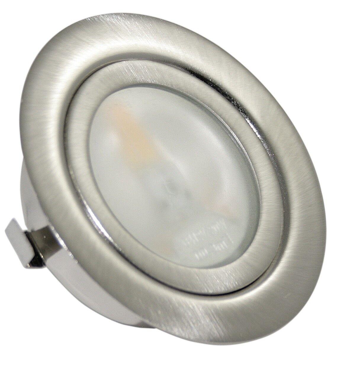 Möbeleinbauleuchte mit LED oder Haloge 12V 2W oder 20W Halogen Birne warmweiß