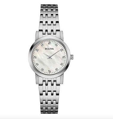 NEW Bulova 96P175 Stainless Steel Diamond Dial Women's Watch