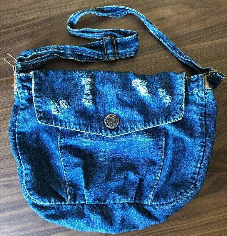 Capezio Denim Messenger Bag Purse Vintage 1980