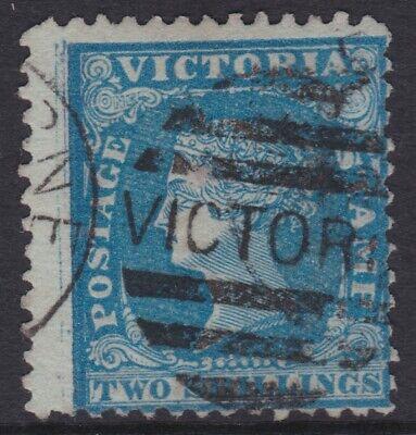 1857 Series Australia VIC Victoria 2/- Shillings Blue WOODBLOCK   REF:V2W48