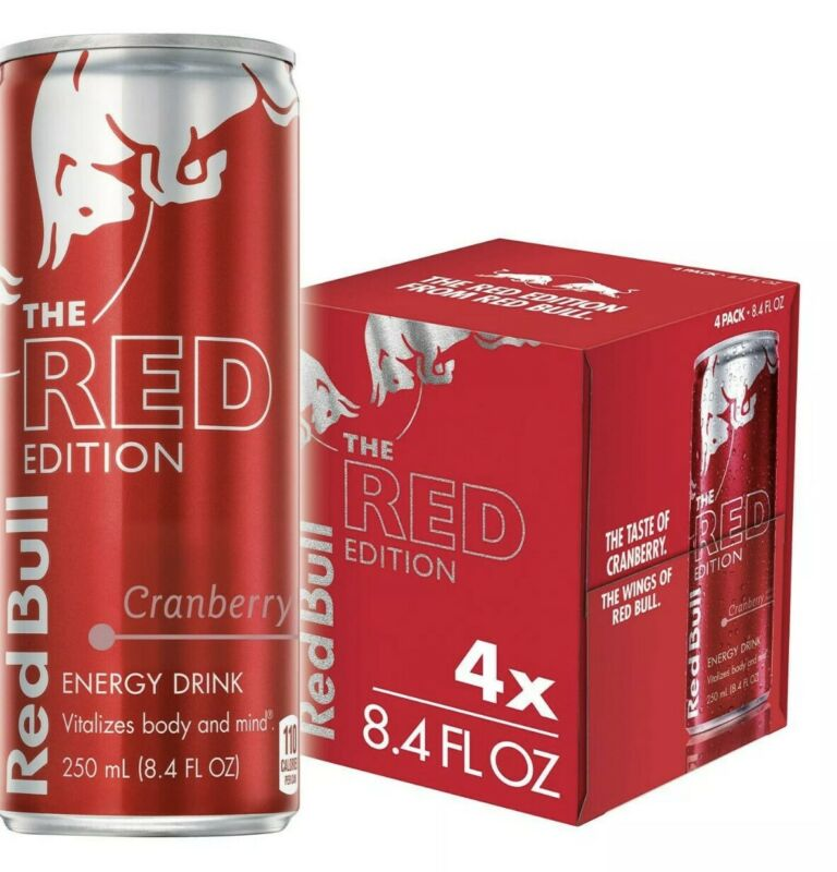 Red Bull  THE RED EDITION (cranberry ) 8.4 oz 4 cans
