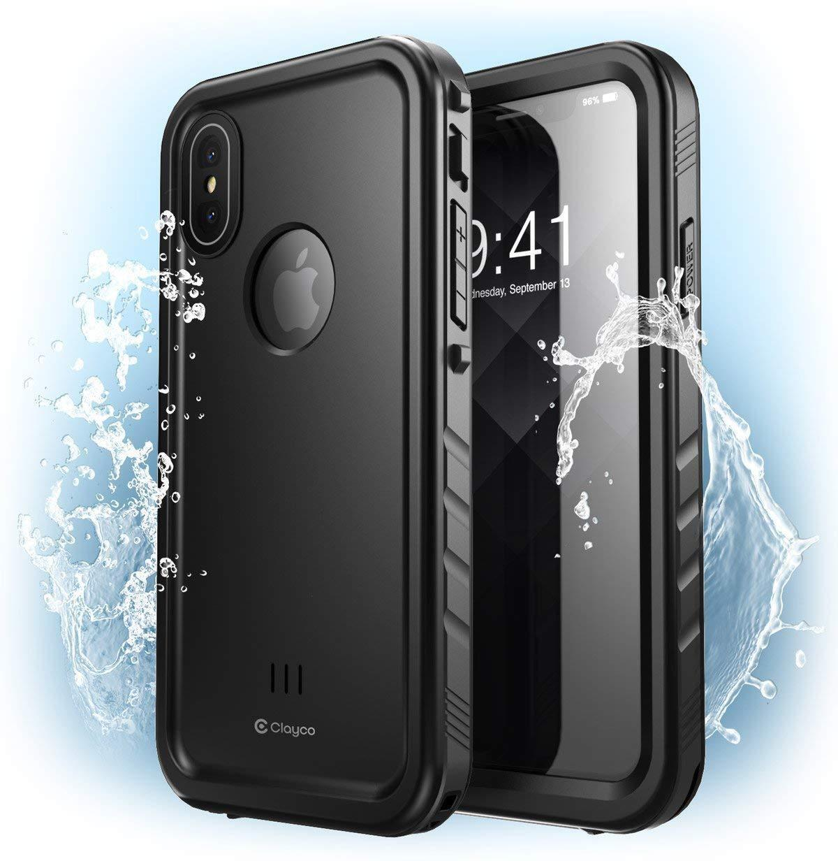cheaper 43746 27a91 Details about New! iPhone XS Max Waterproof Case, Clayco Omni Series Cover  w/ Screen Protector