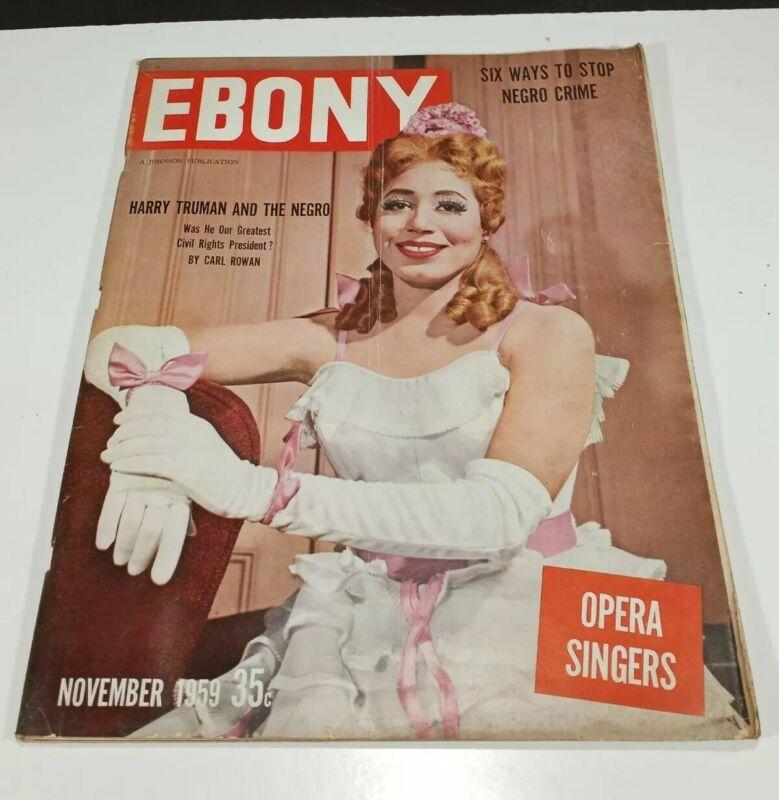 Vintage November 1959 Ebony Magazine 35c Opera Singers