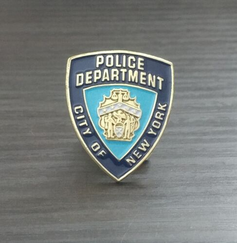NYPD - Police Department City Of New York - Blue & Gold Tone - Lapel Hat Pin