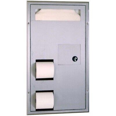 Bobrick B-3571 Seat-cover Dispenser Sanitary Napkin Disposal And Tt Dispenser