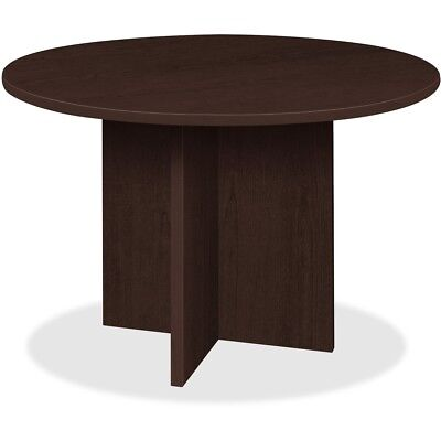 Lorell Conference Table Round Top 42dia X 1thick X 29h Espresso Pt42res