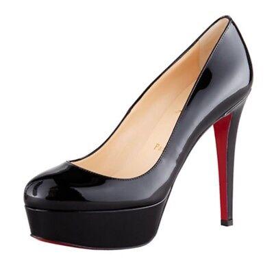 Beautiful black patent leather christian louboutin shoes size 39