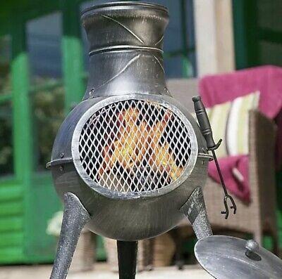 🚛 La Hacienda Panama Cast Iron & Steel Chiminea Wood Burner Fire Pit F&F P&P 🔥