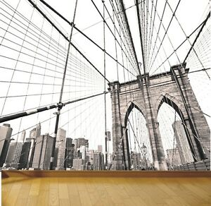 New york brooklyn bridge photo wallpaper mural design for New york wallpaper rolls