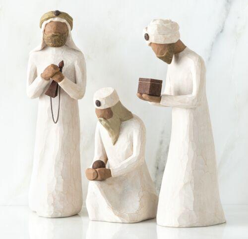DEMDACO Willow Tree Three Wisemen_sculpted hand-painted nativity figures_26027