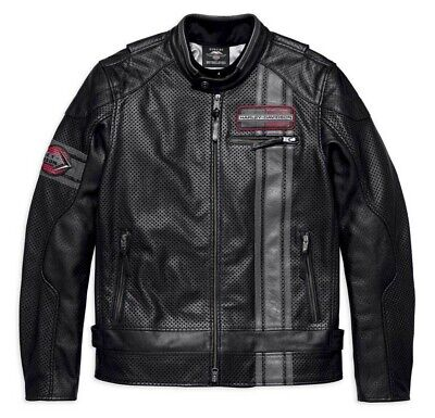 Harley-Davidson Men's Manta Leather Jacket Coolcore Technology 97009-18VM 2XL
