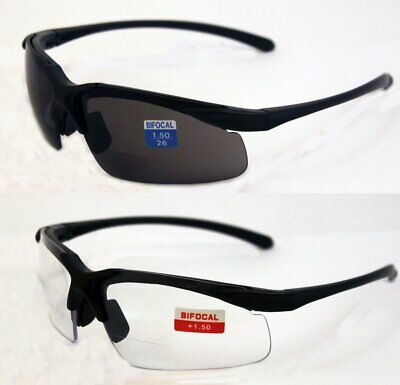 2 Pair Of Apex 1.5 Bifocal Safety Glasses One With Clear Lenses One With Smoked