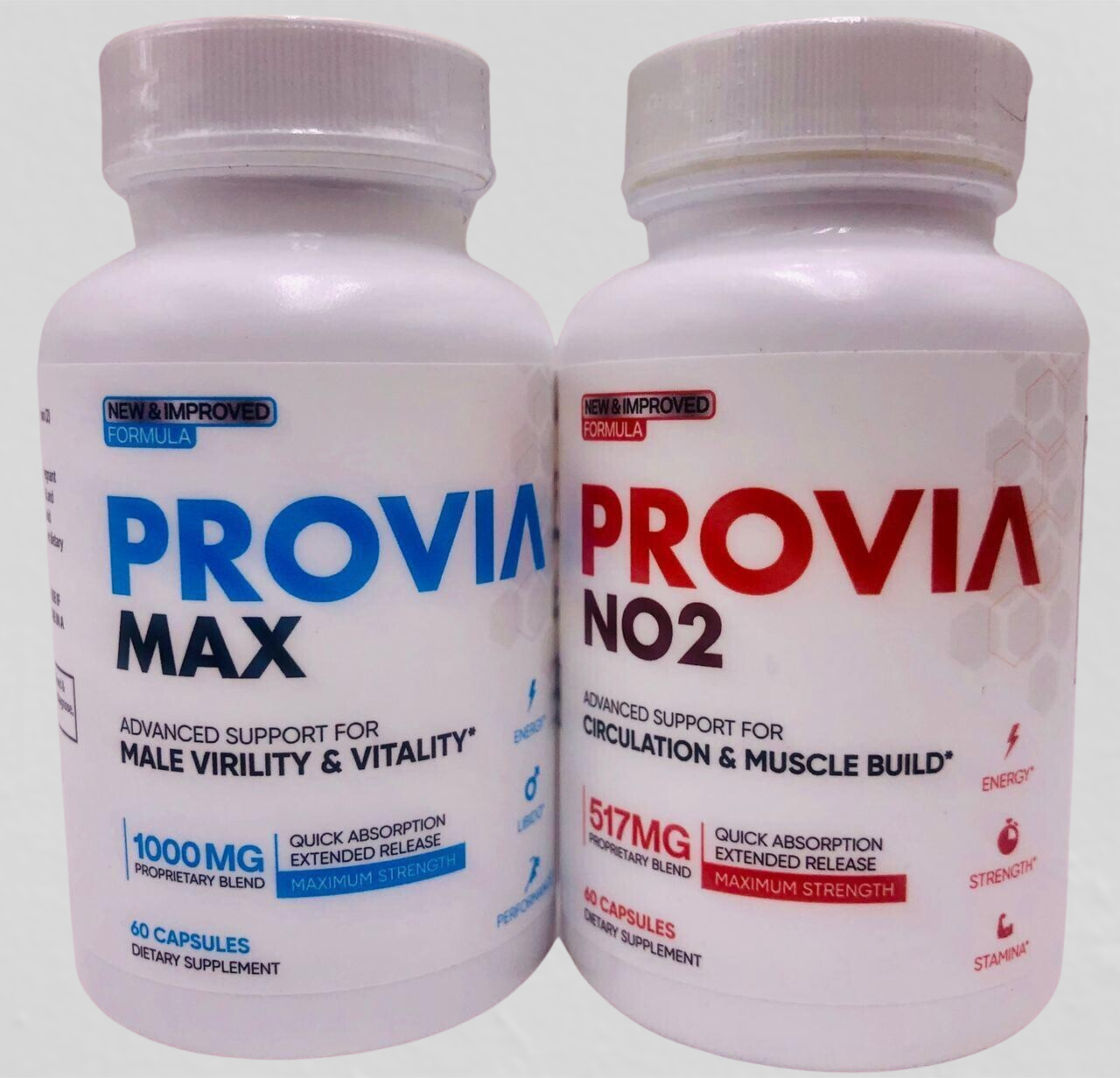 PROVIA MAX - Male Virility and Vitality Support Enhancement & PROVIA NO2 Boost