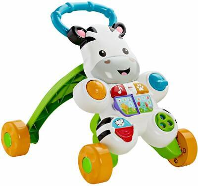 Fisher-Price Learn with Me Zebra Walker Teaches ABC's, 123's and more new