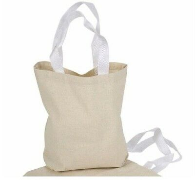 Natural Canvas Tote Bags Craft - 12 Art Canvas Tote Bags Natural Color 8