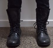 All-Saints Leather Military Boots Fitzroy Yarra Area Preview