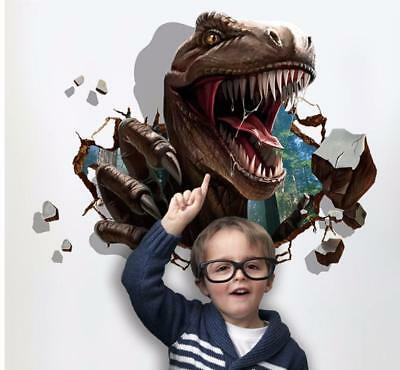 3D dinosaur T-rex Removable Wall Stickers Decal Kids bed room Home Decor USA