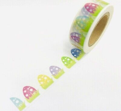 Easter Eggs In Grass Washi Tape Papercraft Planner Supply Journal DIY Crafts