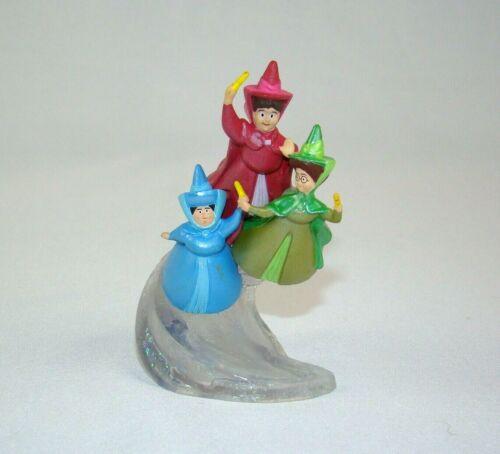"Disney Sleeping Beauty 3 Fairies PVC Cake Topper Fairy Godmother 3.5"""