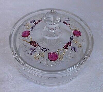 Westmoreland Depression Glass Della Robbia Candy Box