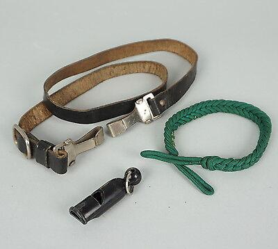 WH, Trillerpfeife, mit Pfeifenschnur, Leder Überwurf, Offizier,2.WK/ 787