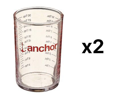 Anchor Hocking 5 oz. Measuring Glass with Display - tsp. ml. cup (Pack of 2)