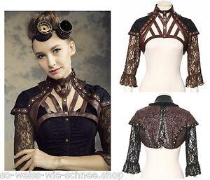rq bl steampunk top gothic larp harness bolero jacket kunst leder r stung sp138 ebay. Black Bedroom Furniture Sets. Home Design Ideas
