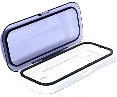 White Universal Water-Resistant 1-DIN Marine Boat Radio Stereo Housing Cover