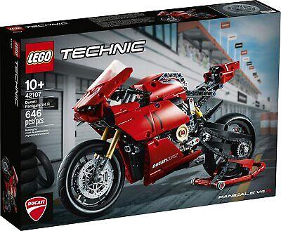 LEGO Technic 42107 Ducati Panigale V4 R 646 Piece Block Set Toy Model Motorcycle